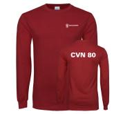 Cardinal Long Sleeve T Shirt-CVN 80 and 81