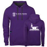 Contemporary Sofspun Purple Hoodie-Programs Division