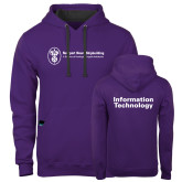 Contemporary Sofspun Purple Hoodie-Information Technology