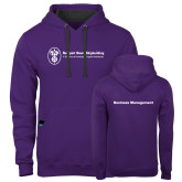 Contemporary Sofspun Purple Hoodie-Business Management