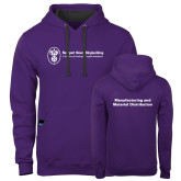 Contemporary Sofspun Purple Hoodie-Manufacturing and Material Distribution