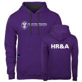 Contemporary Sofspun Purple Hoodie-HR and A