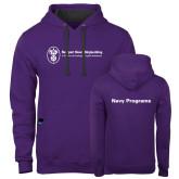 Contemporary Sofspun Purple Hoodie-Navy Programs