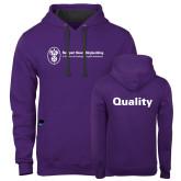 Contemporary Sofspun Purple Hoodie-Quality