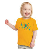Toddler Gold T Shirt-Future Shipbuilder
