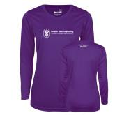 Ladies Syntrel Performance Purple Longsleeve Shirt-Fleet Support Programs