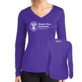 Ladies Syntrel Performance Purple Longsleeve Shirt-Strategic Sourcing