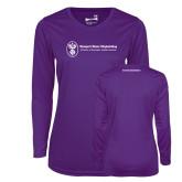 Ladies Syntrel Performance Purple Longsleeve Shirt-Comms