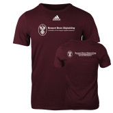 Adidas Maroon Logo T Shirt-Business Management