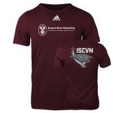 Adidas Maroon Logo T Shirt-ISCVN