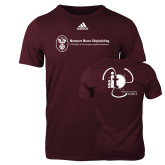 Adidas Maroon Logo T Shirt-NNS IT