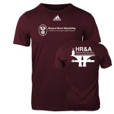 Adidas Maroon Logo T Shirt-HR and A