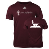 Adidas Maroon Logo T Shirt-Programs Division