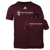 Adidas Maroon Logo T Shirt-Nuclear Propulsion