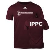 Adidas Maroon Logo T Shirt-IPPC