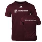 Adidas Maroon Logo T Shirt-Comms