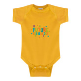 Gold Infant Onesie-Future Shipbuilder