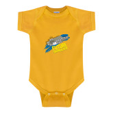 Gold Infant Onesie-Future Shipbuilder Carrier Ship