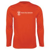 Performance Orange Longsleeve Shirt-Newport News Shipbuilding