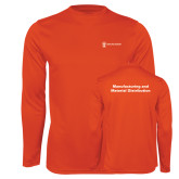 Performance Orange Longsleeve Shirt-Manufacturing and Material Distribution