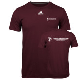 Adidas Climalite Maroon Ultimate Performance Tee-Business Management