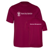 Performance Maroon Tee-Business Management