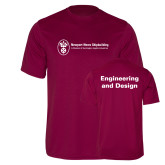 Performance Maroon Tee-Engineering and Design