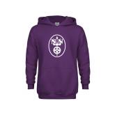 Youth Purple Fleece Hoodie-Icon