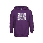 Youth Purple Fleece Hoodie-NNS Vintage