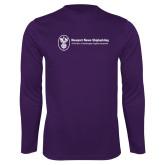 Performance Purple Longsleeve Shirt-Newport News Shipbuilding