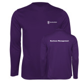 Performance Purple Longsleeve Shirt-Business Management