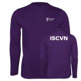 Performance Purple Longsleeve Shirt-ISCVN