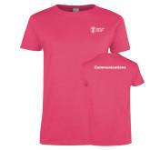 Ladies Fuchsia T Shirt-Comms