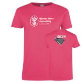 Ladies Fuchsia T Shirt-ISCVN