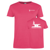 Ladies Fuchsia T Shirt-Programs Division