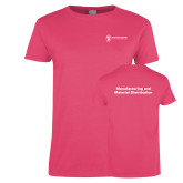 Ladies Fuchsia T Shirt-Manufacturing and Material Distribution