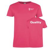 Ladies Fuchsia T Shirt-Quality