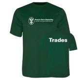 Performance Dark Green Tee-Trades