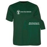 Performance Dark Green Tee-Manufacturing and Material Distribution