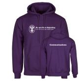 Purple Fleece Hoodie-Comms