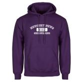 Purple Fleece Hoodie-NNS College Design