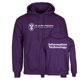 Purple Fleece Hoodie-Information Technology