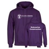 Purple Fleece Hoodie-Submarine Construction