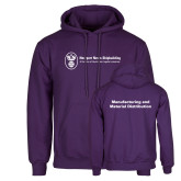 Purple Fleece Hoodie-Manufacturing and Material Distribution