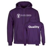 Purple Fleece Hoodie-Quality