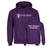 Purple Fleece Hoodie-Fleet Support Programs