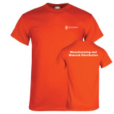 Orange T Shirt-Manufacturing and Material Distribution