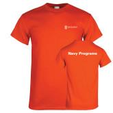 Orange T Shirt-Navy Programs