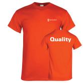 Orange T Shirt-Quality