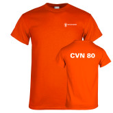 Orange T Shirt-CVN 80 and 81